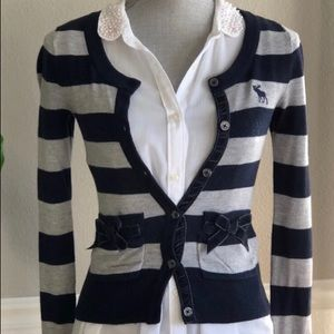 Abercrombie & Fitch Striped Cardigan Sweater
